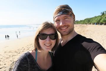 Kuta beach selfie