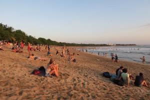 Kuta Beach Packed