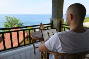 Ryan Sletcher Working in Bali