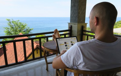 Ryan Sletcher Working in Bali